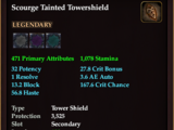 Scourge Tainted Towershield