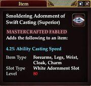 Smoldering Adornment of Swift Casting (Superior)