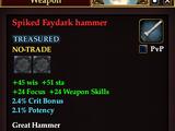 Spiked Faydark hammer (Version 1)