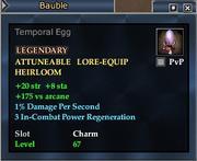 Temporal Egg