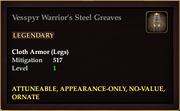 Vesspyr Warrior's Steel Greaves