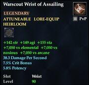 Warscout Wrist of Assailing
