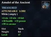 Amulet of the Ancient