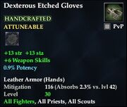 Dexterous Etched Gloves