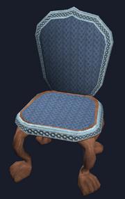 Ornate mahogany dining chair (Visible)