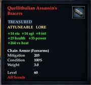Quellithulian Assassin's Bracers