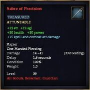 Sabre of Precision