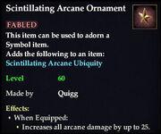 Scintillating Arcane Ornament