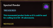 Spectral Powder