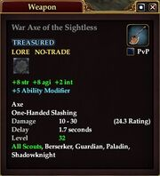 War Axe of the Sightless