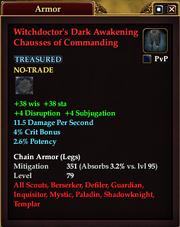 Witchdoctor's Dark Awakening Chausses of Commanding