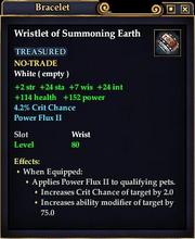 Wristlet of Summoning Earth