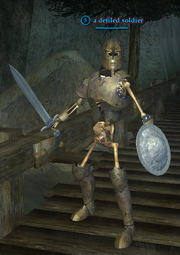 A defiled soldier (Queen's Colony) (skeleton)