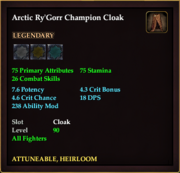 Arctic Ry'Gorr Champion Cloak