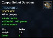 Copper Belt of Devotion