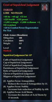 Cowl of Sepulchral Judgement