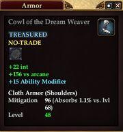 Cowl of the Dream Weaver
