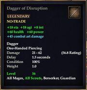 Dagger of Disruption