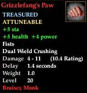 Grizzlefang's Paw
