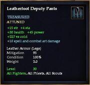 Leatherfoot Deputy Pants