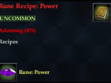 Rune Recipe: Power