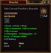 Vale Carved Purifier's Bracelet