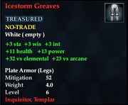 Icestorm Greaves