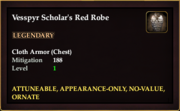 Vesspyr Scholar's Red Robe