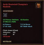 Arctic Frostwind Champion's Hauberk