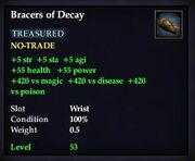 Bracers of Decay