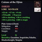 Cuirass of the Djinn