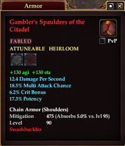 Gambler's Spaulders of the Citadel