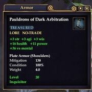 Pauldrons of Dark Arbitration
