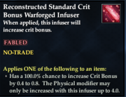 Reconstructed Standard Crit Bonus Warforged Infuser