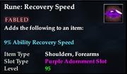 Rune- Recovery Speed