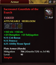 Sacrosanct Gauntlets of the Exarch