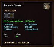 Sermon's Comfort