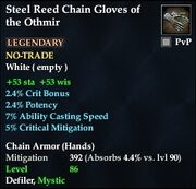 Steel Reed Chain Gloves of the Othmir