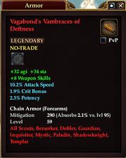 Vagabond's Vambraces of Deftness