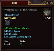 Weapon Belt of the Firesoul
