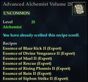 Advanced Alchemist Volume 25