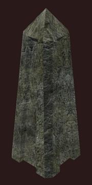 Aged Obelisk Gravemarker (Visible)