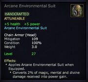 Arcane Environmental Suit