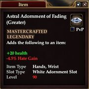 Astral Adornment of Fading (Greater)