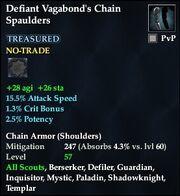 Defiant Vagabond's Chain Spaulders