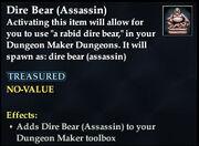 Dire Bear (Assassin)