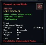 Draconic Accord Blade