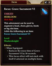 Grave Sacrament Adornment