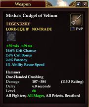 Misha's Cudgel of Velium
