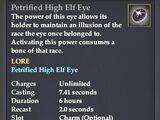 Petrified High Elf Eye